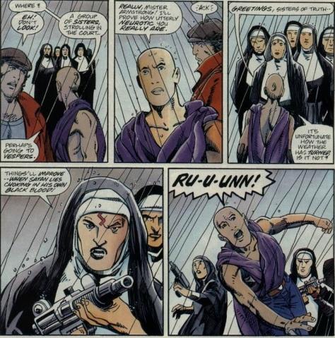 Archer & Armstrong 3 nuns Barry Windsor-Smith(crop)