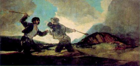 "Goya painting ""fight with cudgels"""