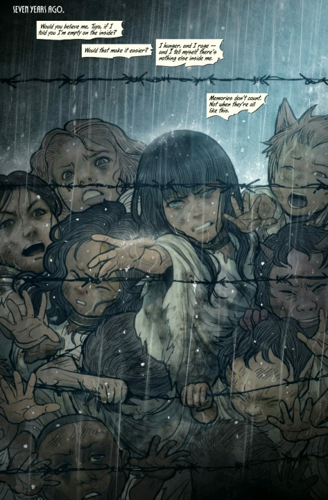 From Monstress #5 by Sana Takeda