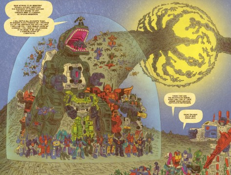 From Transformers vs GI Joe #12 by Tom Scioli