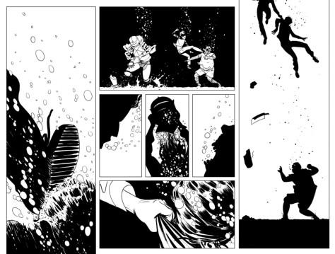From The Walking Dead: Alien #1 by Marcos Martin