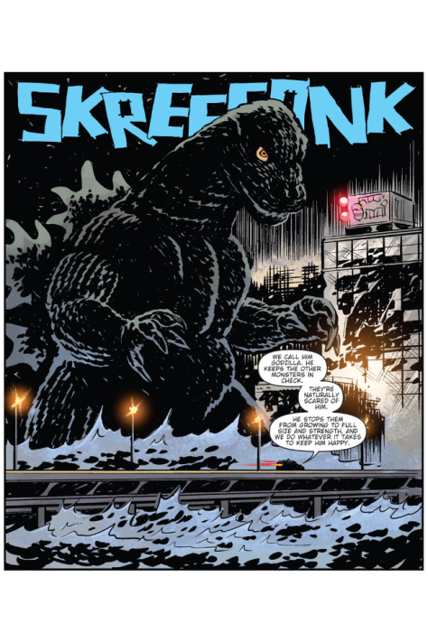 From Godzilla Oblivion #1 by Brian Churilla and Jay Fotos