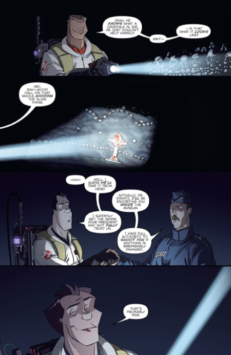 From Ghostbusters International #5 by Dan Schoening, Luis Antonio Delgado & Neil Uyetake