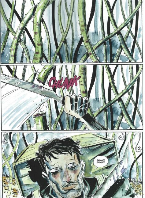 Lemire's art from A.D.: AFTER DEATH.