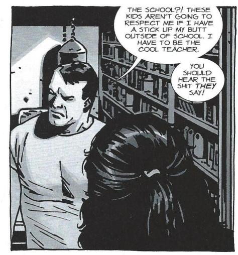 Art from the Negan strip in IMAGE+