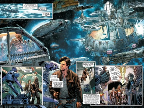 From Han Solo #1 by Mark Brooks & Sonia Oback