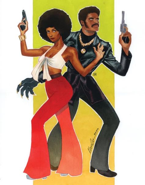 Misty Knight & BLack Panther Kevin Wada