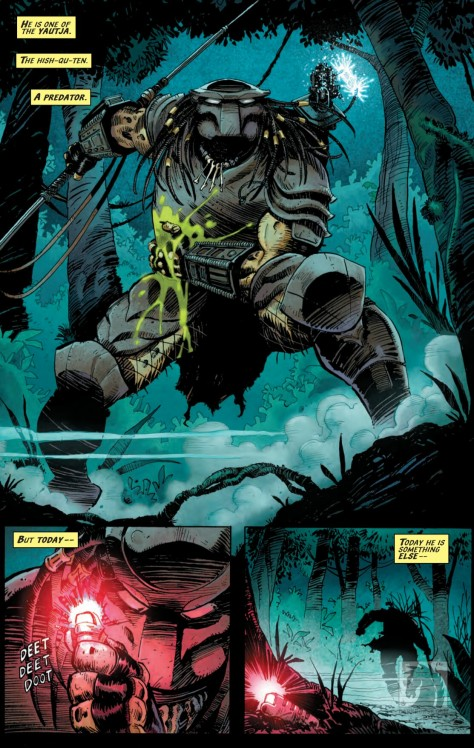 From Aliens vs Predator vs Judge Dredd #1 by Chris Mooneyham & Michael Ateyah