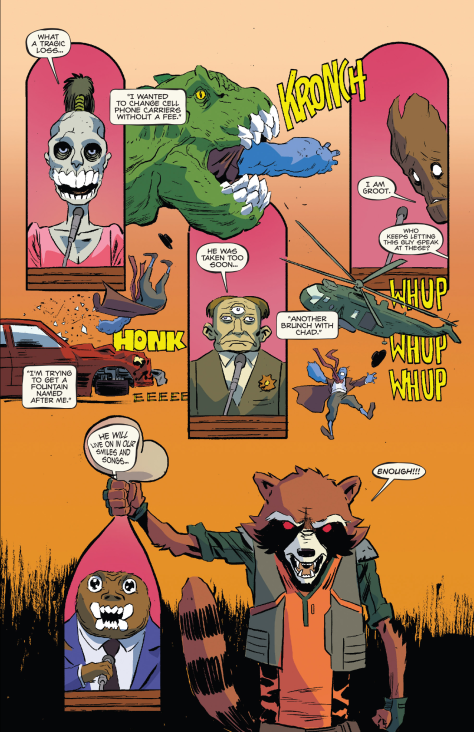 From Rocket Raccoon and Groot #7 by Michael Walsh & Cris Peter