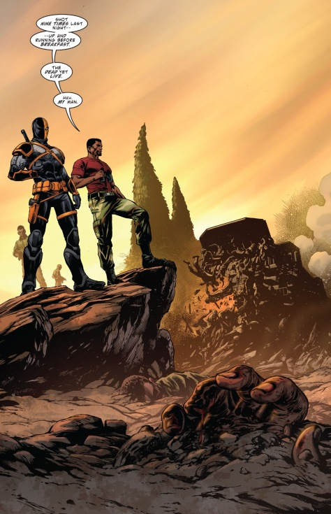 From Deathstroke Rebirth #1 by Carlos Pagulayan, Jason Paz & Jeremy Cox