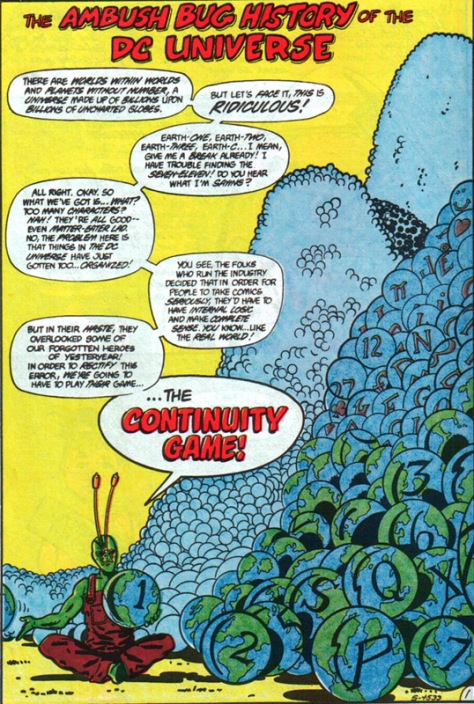 Ambush Bug 3 continuity game Keith Giffen