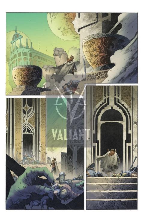From X-O Manowar #50 by omas Giorello & Diego Rodriguez