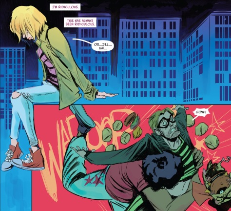 From Spider Gwen #11 by Robbie Rodriguez & Lauren Affe