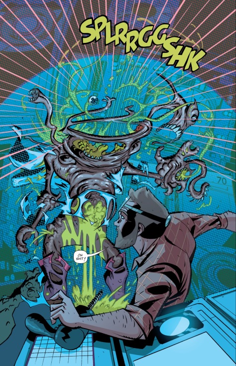 From Cave Carson Has a Cybernetic Eye #1 by by Michael Avon Oeming & Nick Firaldi