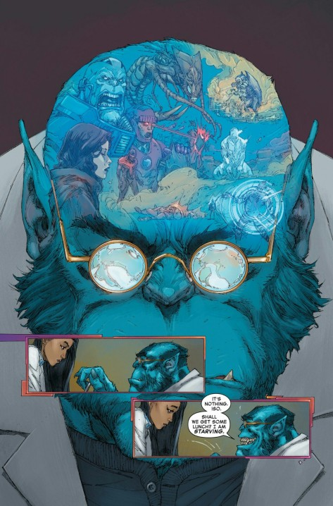 From Inhumans vs X-Men #0 by Kenneth Rocafort & Dan Brown