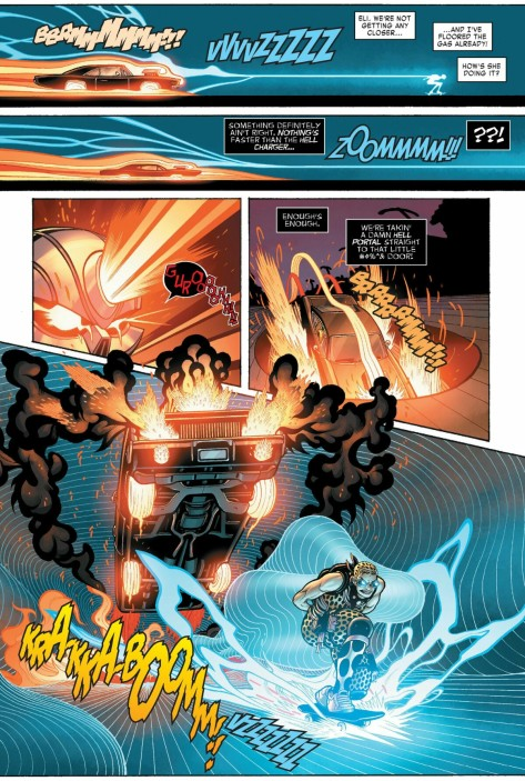 From Ghost Rider #1 by Tradd Moore & Val Staples