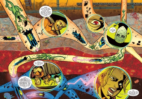 From Cave Carson Has A Cybernetic Eye #3 by Michael Avon Oeming & Nick Filadri