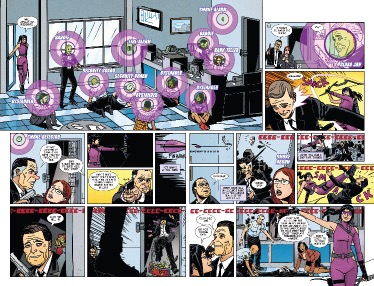 From Hawkeye #1 by Leonardo Romero & Jordie Bellaire