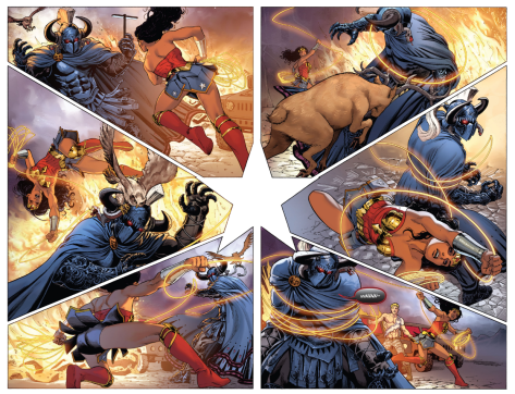 From Wonder Woman #14 by Nicola Scott & Romulo Farjado Jr