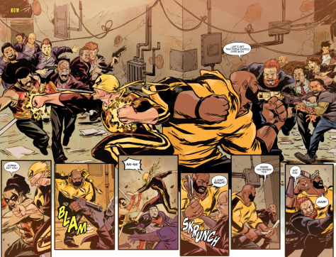 From Powerman & Iron Fist #12 by Sanford Greene & Lee Loughridge