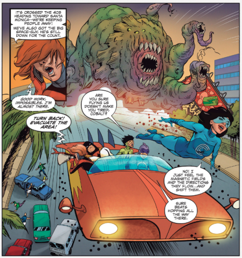 From Future Quest #9 by Ron Randall & Veronica Gandini