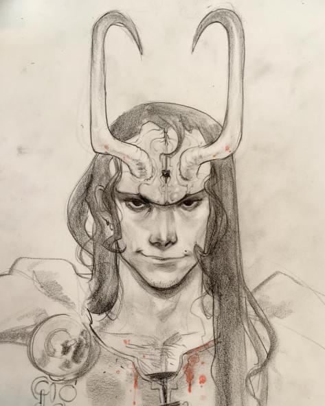 Loki bust Sara Pichelli